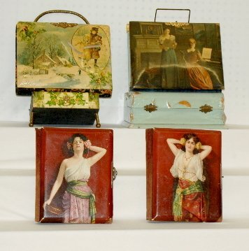 10: 4 Antique Celluloid Cover Photograph Albums