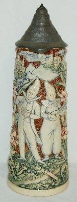 3: German Ornate Beer Stein, Musician Clown
