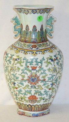 17: Chinese Porcelain Colorful Floral Vase
