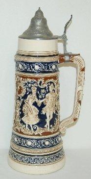 24: German Ornate Beer Stein, Courting Scene
