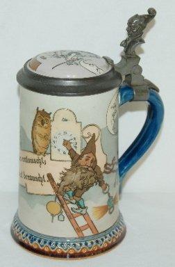 139: Mettlach #2092 1/2 Liter Etched Stein, Gnome