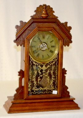 "Ingraham Wood Mantel Clock, ""Sapphire"""