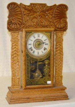 """Ingraham Wood Mantel Clock, Ocean Line """"Artic"""""""