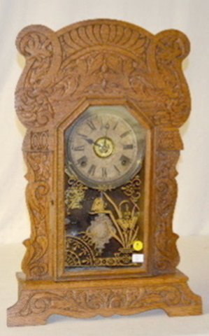 """Sessions Oak Mantel Clock, """"Grand No. 2"""""""