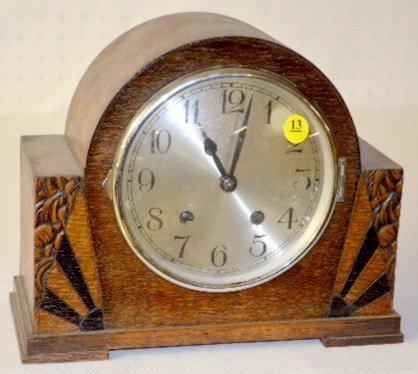 Art Deco Shelf Clock, 8 Day, T & S