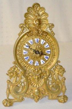 Ansonia Novelty Clock w/Lady and Dragon