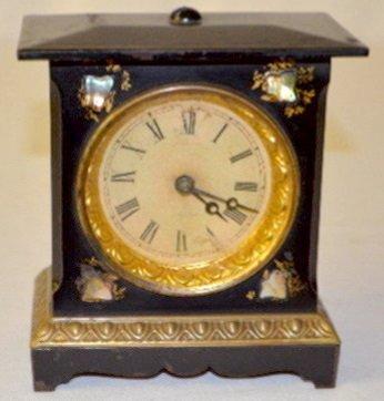 Iron Case Alarm Clock w/M.O.P. on Face Plate