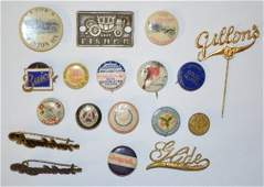 20 Early Automobile Advertising Pins