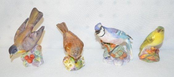 4 Royal Worcester Bone China Birds