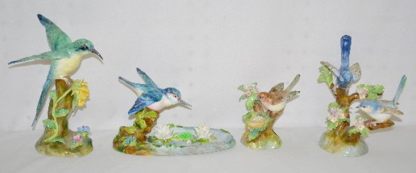 4 Crown Staffordshire Bird Figurines
