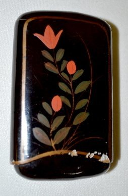 Antique Calling Card Case, Japanese Lacquer