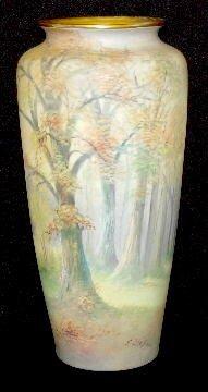 T & V Limoges/Pickard Painted Vase