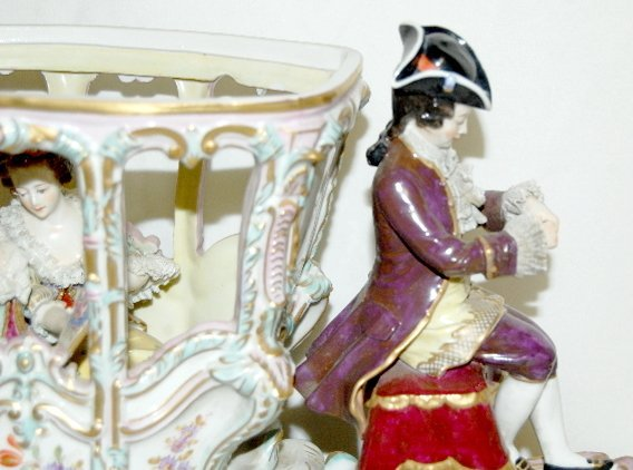 Volkstedt Porcelain Horse Drawn Carriage - 10