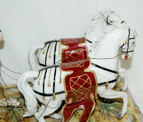 Volkstedt Porcelain Horse Drawn Carriage - 3