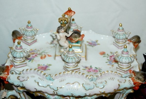 Volkstedt Porcelain Horse Drawn Carriage - 6