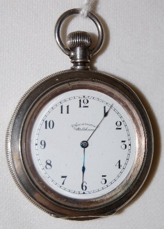 Am. Waltham 7J 12S OF 3/4 Coin Pocket Watch