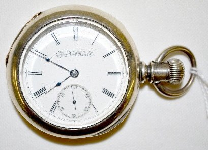 Elgin 15J 18S OF LS Full Coin Pocket Watch