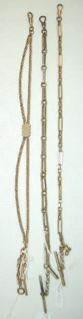3 Vintage Watch Chains of Varying Styles