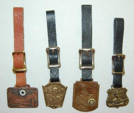 4 Fobs -  Boy Scout and American  Legion