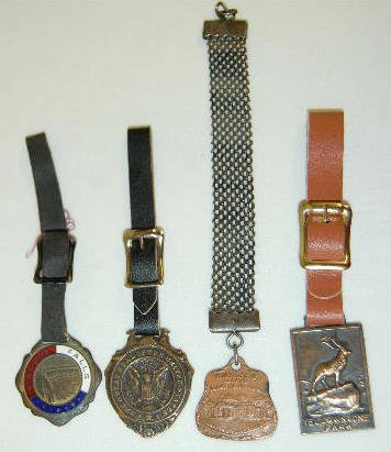 4 Watch Fobs - 3 Locations and U.S. Seal