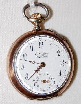 Swiss 800 Silver 10J No. 55099 PS OF Pocket Watch