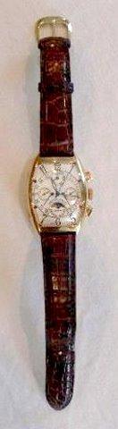 18K YG Franck Muller 68SD CC QPB No. 5 Wristwatch