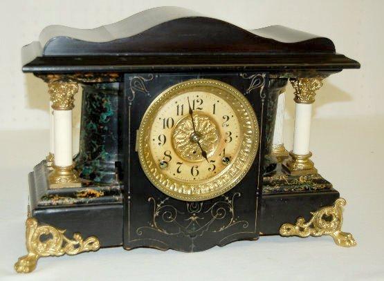 Seth Thomas Adamantine Column Mantel Clock