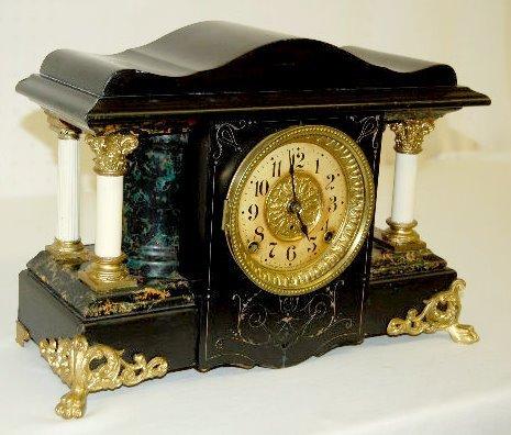 Seth Thomas Adamantine Column Mantel Clock - 2