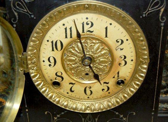 Seth Thomas Adamantine Column Mantel Clock - 5