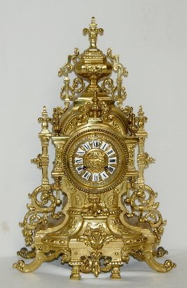 Japy Freres French Brass Mantel Clock