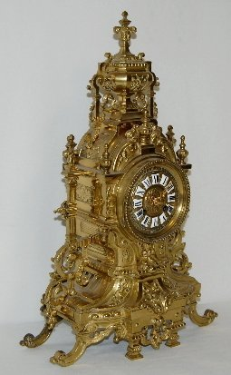 Japy Freres French Brass Mantel Clock - 5