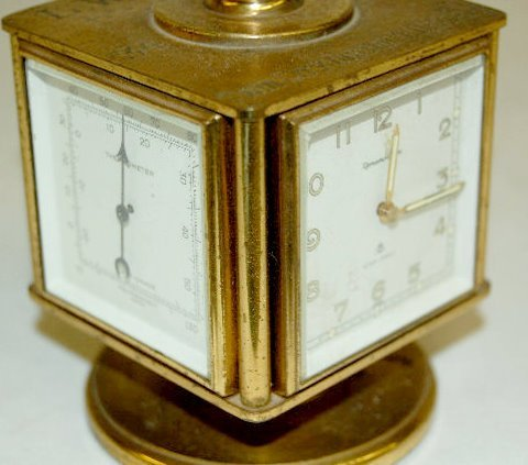 """Remembrance"" 8 Day, 7 Jewels Desk Clock  - 5"