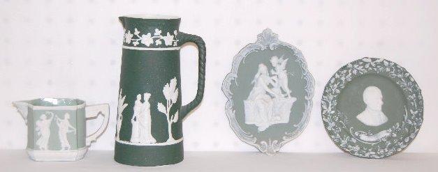4 Jasperware Items, Emerson and Classical
