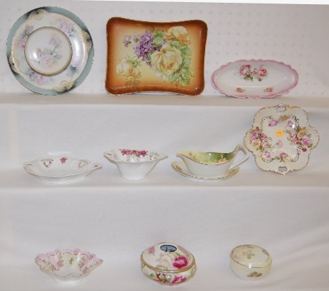 9 Rose Decorated China Collectibles