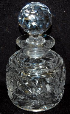 3 Cut Glass Bottles with Stoppers - 5