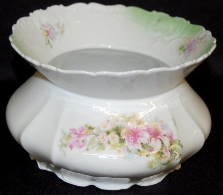 Rose Decorated China Spittoon