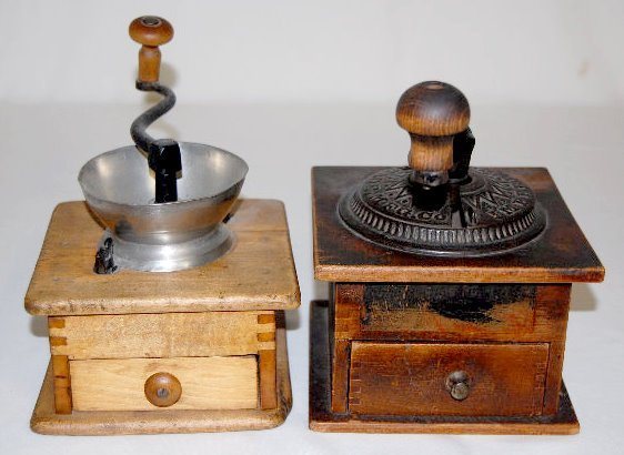 2 Antique Coffee Mills, Arcade and Other