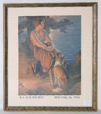 """R.A. Fox Print, """"A Campfire Girl"""""""