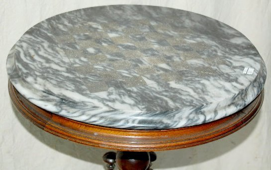 Antique Carved Round Marble Top Chess Table - 2