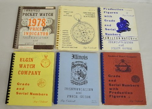 6 Pocket Watch Guides, Elgin, Illinois +
