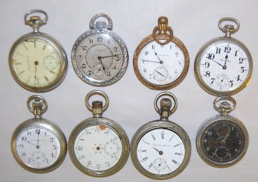 8 Hamilton Pocket Watches
