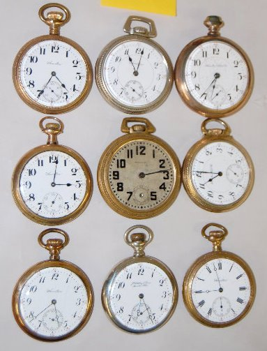 9 Hamilton 16S OF Pocket Watches