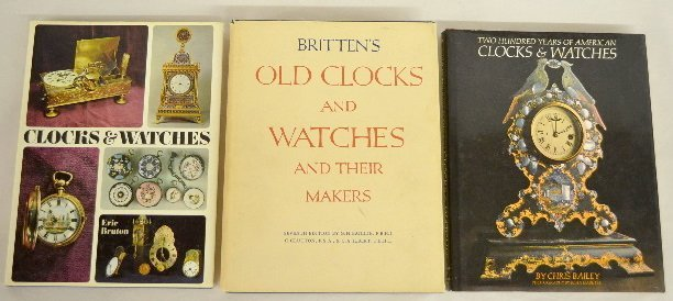 3 Clock and Watches Books, Hardbound
