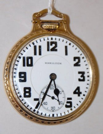 Hamilton 992 21J, 16S, OF Pocket Watch