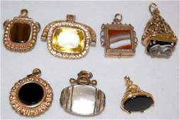 7 Victorian Watch Chain Charms Several Styles
