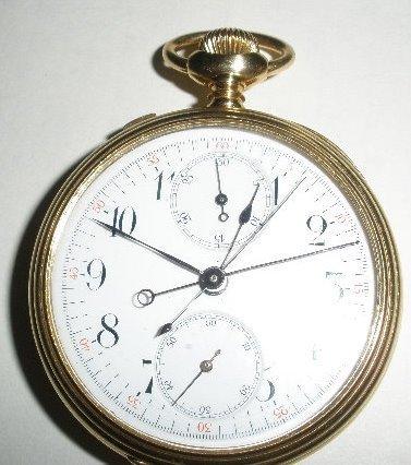 18K Gold Case OF Split Second Chronometer