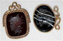 2 Victorian Watch Chain Charms