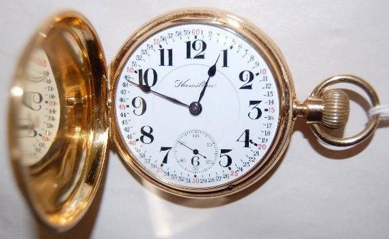 Hamilton 947 18K 23J 18S LS Pocket Watch