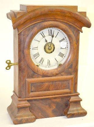 Seth Thomas Burl Walnut Arch Top Clock