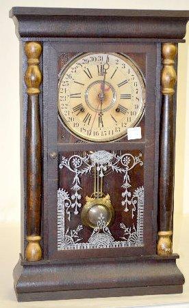 Gilbert Pillar Calendar Mantel Clock